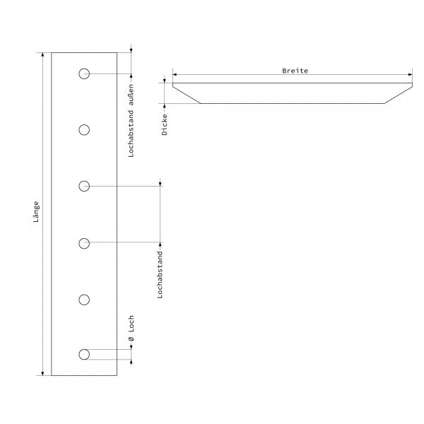 Heidemann Abbruchtechnik Greifer Verschleißmesser Zeichnung